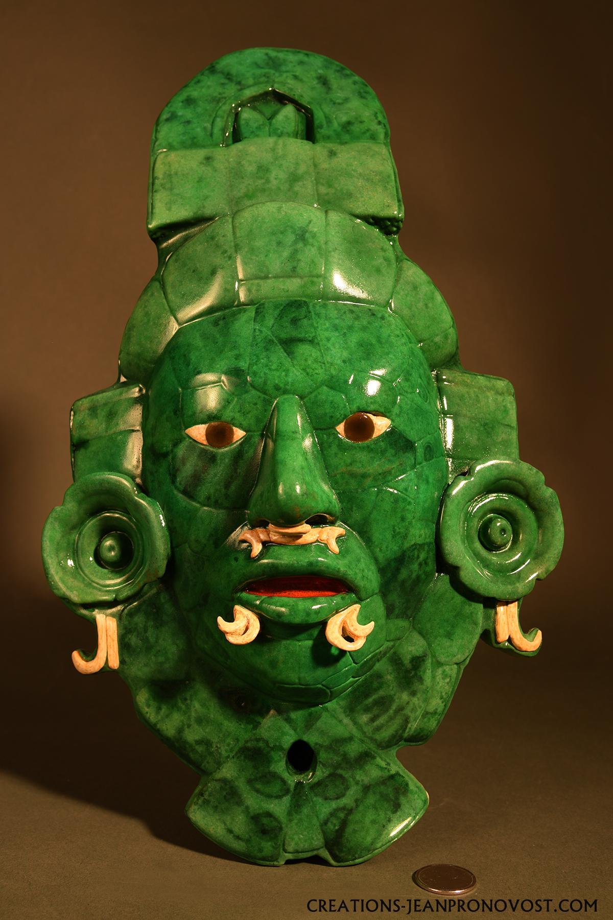 Masque de jade de Calakmul